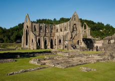 Tintern Abbey is just about an hour's drive (50 miles) E of Cardiff