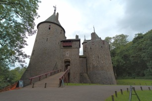 Castell Coch lies around 5 miles N of the city centre