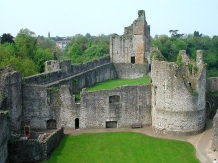 Chepstow Castle, 30 miles E of Cardiff, on the border with England