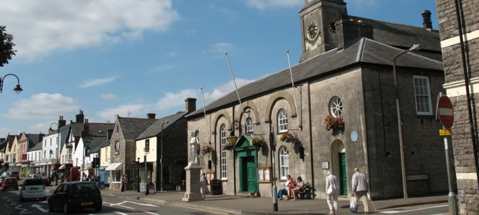 Cowbridge, home of the the 'Welsh Ossian' Iolo Morgannwg (Edward Williams), is 14 miles W of Cardiff